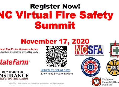 Register for the NC Virtual Fire Safety Summit | Nov. 17th