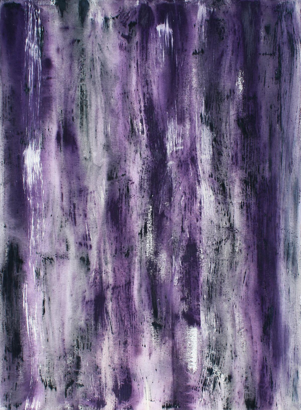 Purple and White Study