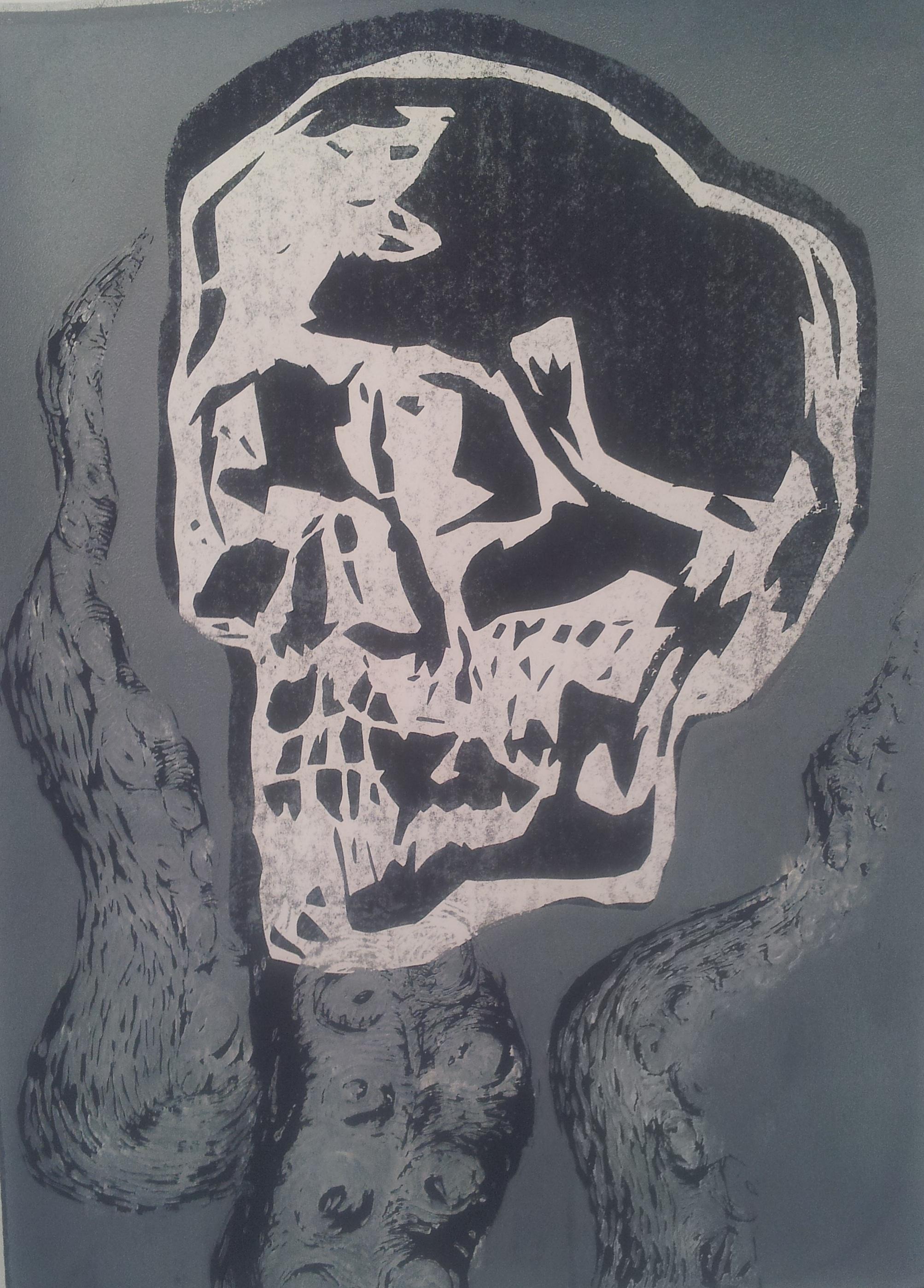 Silkscreen Skull