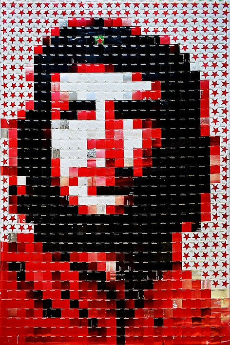 Ernesto Che Guevara - canettes cans upcycling art