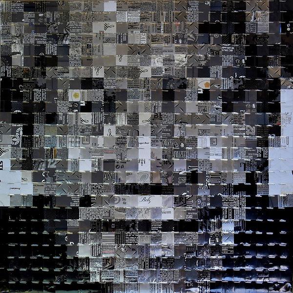 Madiba Nelson Mandela canettes cans upcycling art