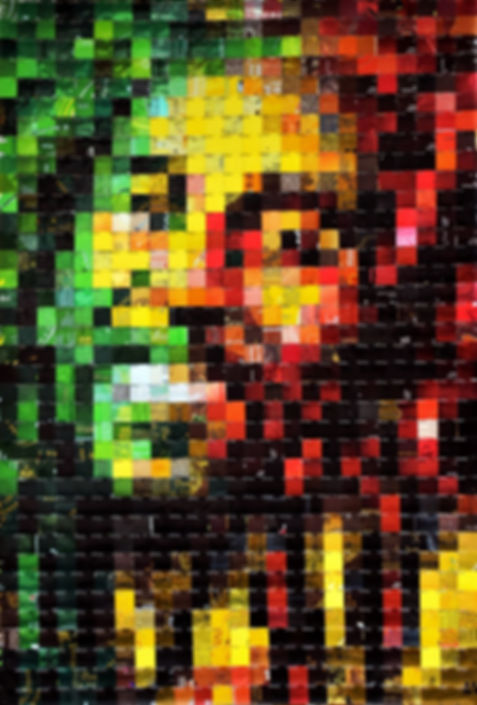 Bob Marley canettes cans upcycling art
