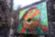 oeil de caméléon - chameleon eye canettes cans upcycling art