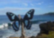 Blue Wings Ti Sable  Île de la Réunion Reunion Island canettes upcycling art cans