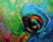 Oeil de poisson perroquet canettes upcycling parrot fish eye cans art