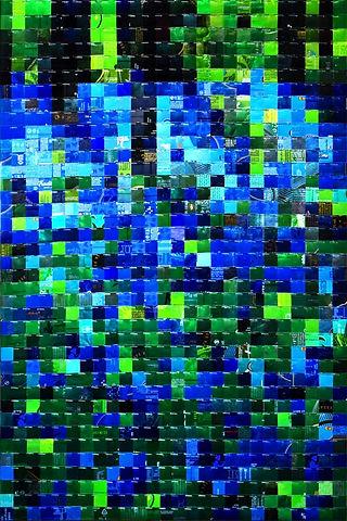 Bois de Hal : jacinthes bleues - blue hyacinths  canettes cans upcycling art