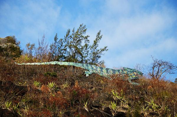 C-Rex - La Montagne Île de la Réunion Reunion Island upcycling art cans panther chameleon