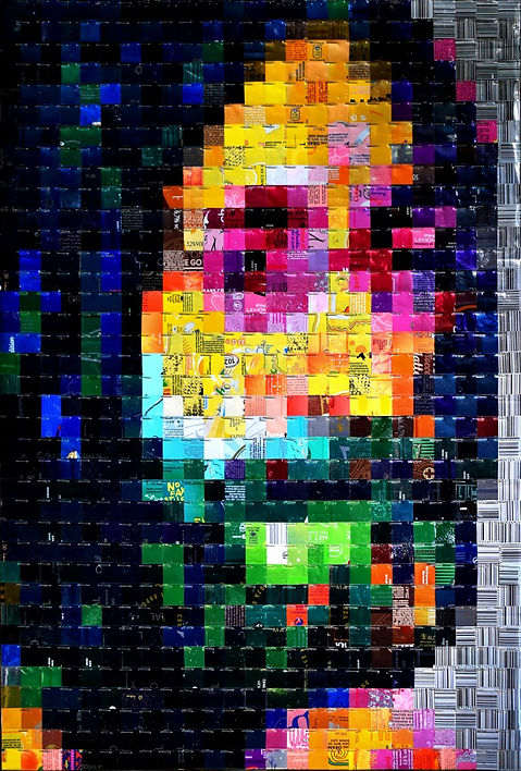 John Lennon canettes cans upcycling art
