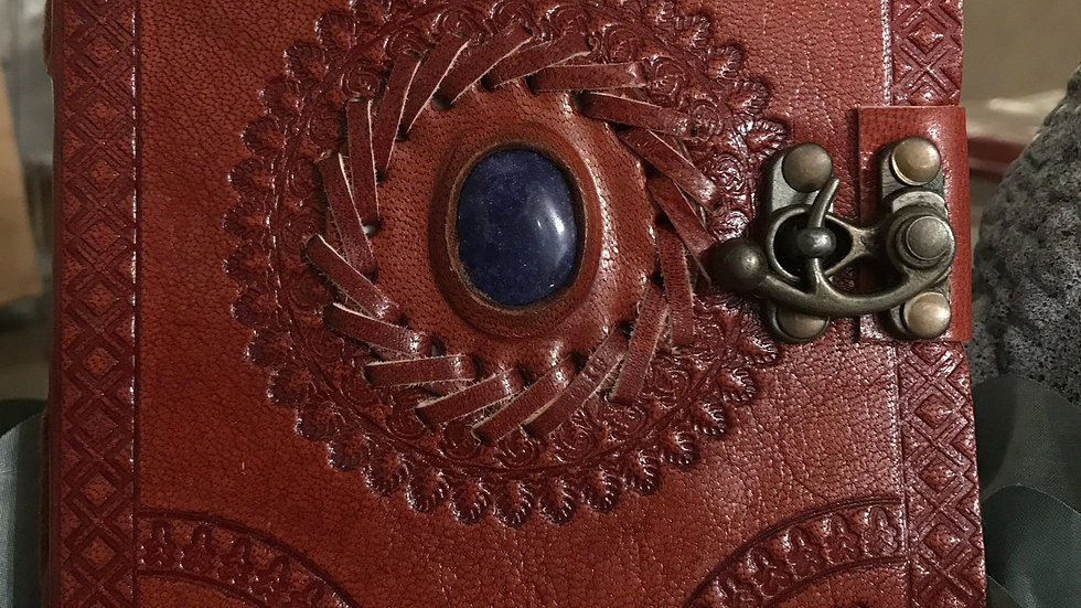 god's eye leather journal+ with latch closure