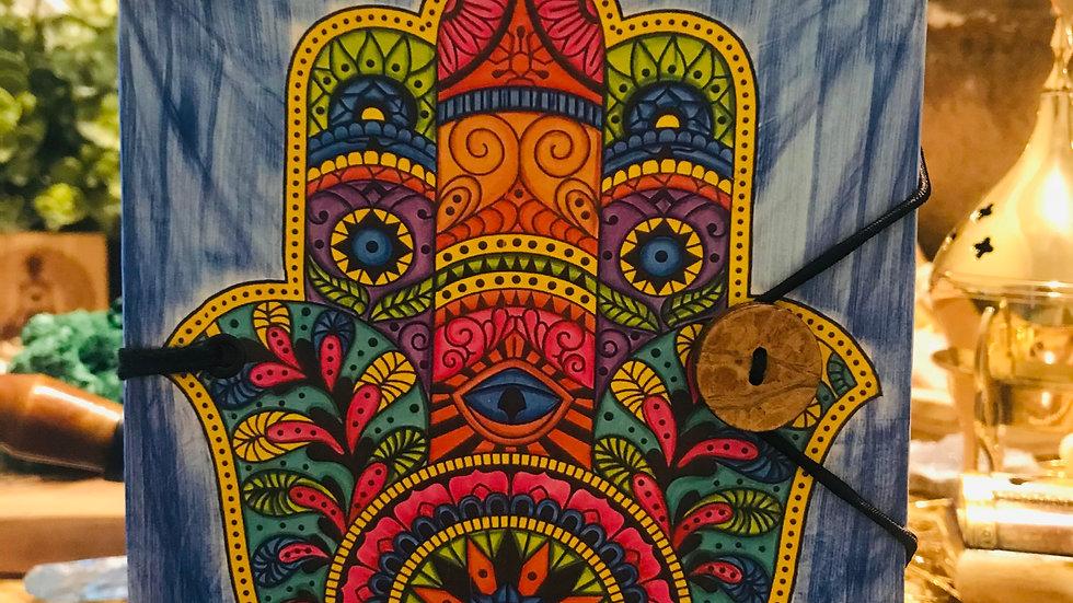 hamsa 5x7 handmade journal