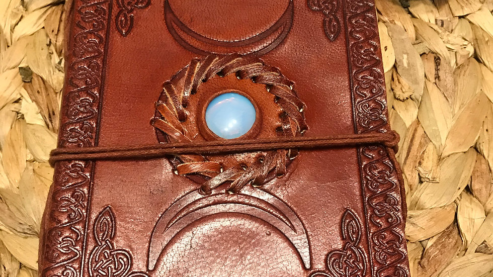 moonstone leather journal