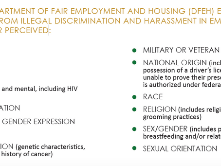 California Law Prohibits Workplace Discrimination And Harassment