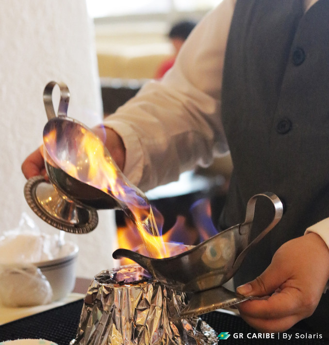 The art of Flambé Coffee at Solaris ☕️🔥