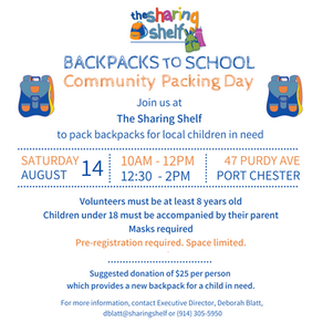 Community Packing Day - Backpacks to School