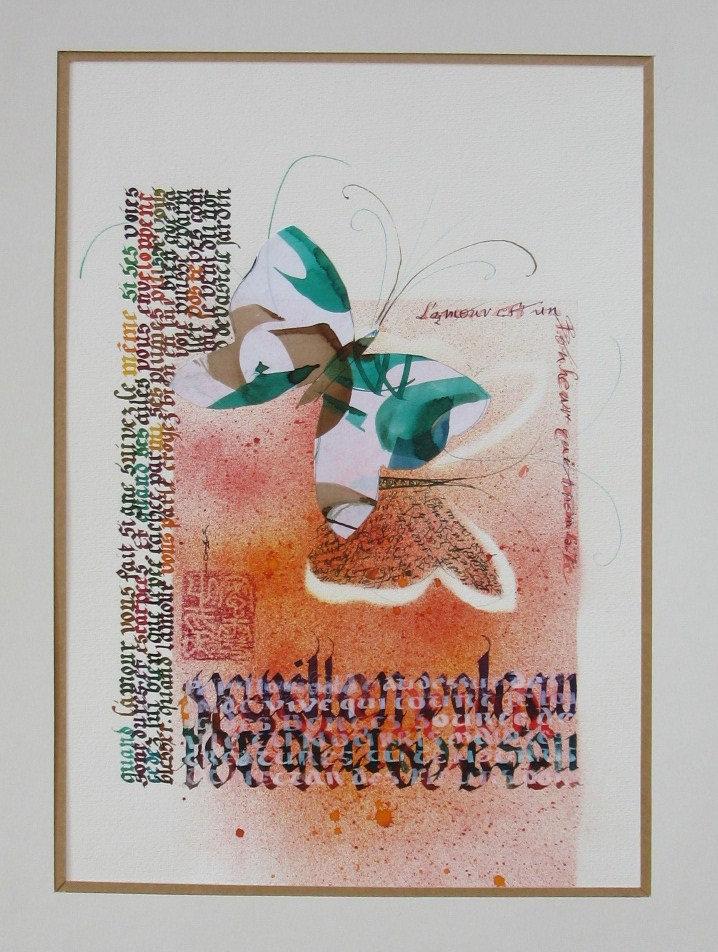 Calligraphie/enliminure Michéle Calhiol