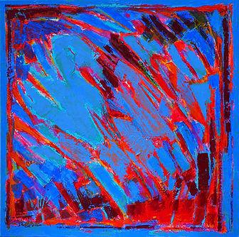 Vague bleue- Acrylique sur toile - 60 X