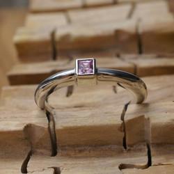 Mini Ridge ring with Square