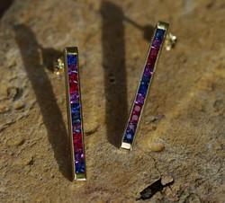 Rainbow Stick Earrings
