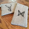 Butterfly glasses case and Stag makeup bag by dD Handmade