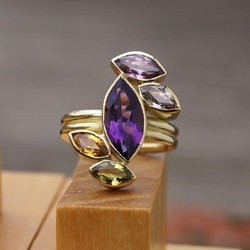 Marquise Gold ring
