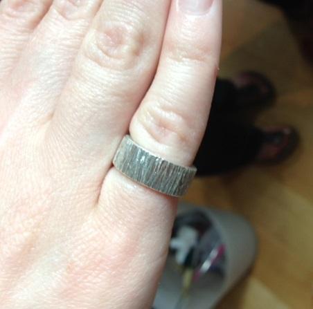 Hammered Bark ring