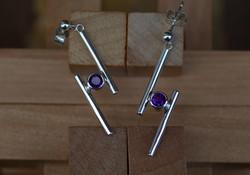 Short Mini Cross-over Earrings
