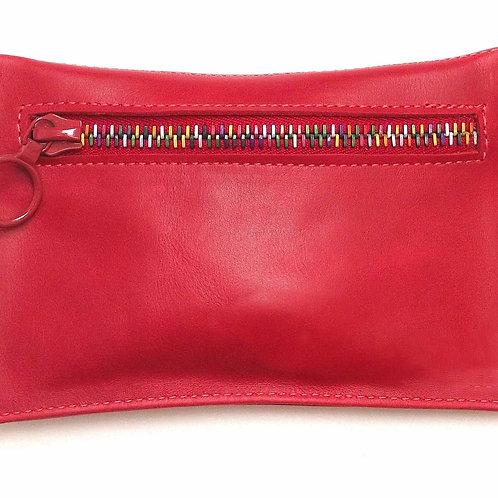 Small Red Zipper Purse