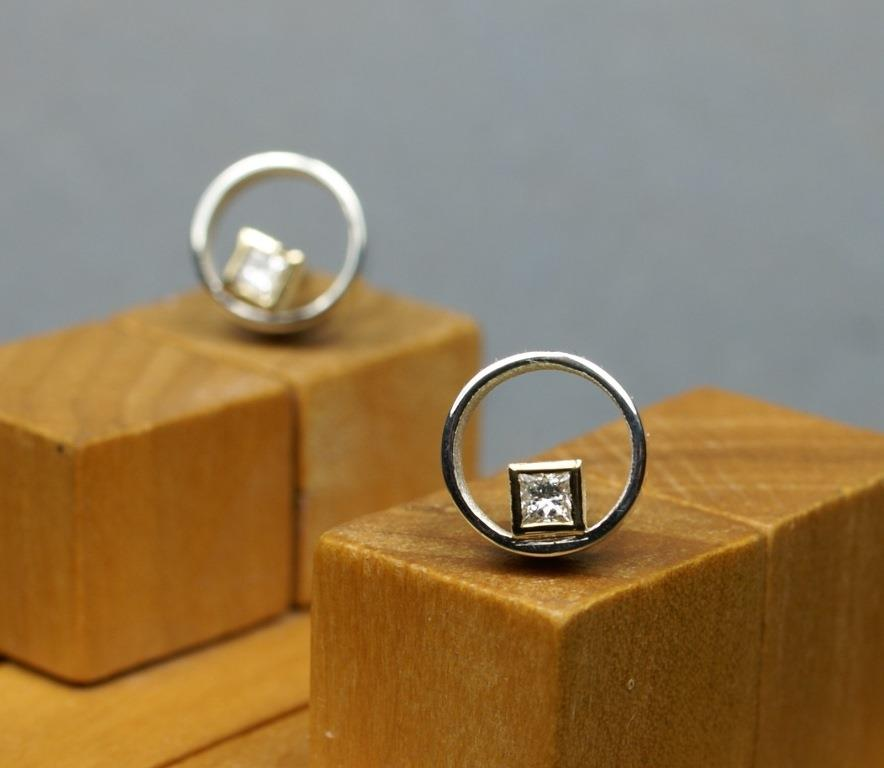 Circle & Square Earrings