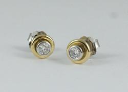Double Stud Earrings with Diamonds