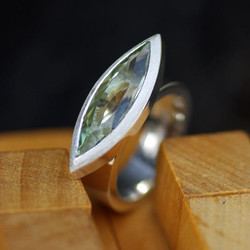 Large Marquise Flat Ring