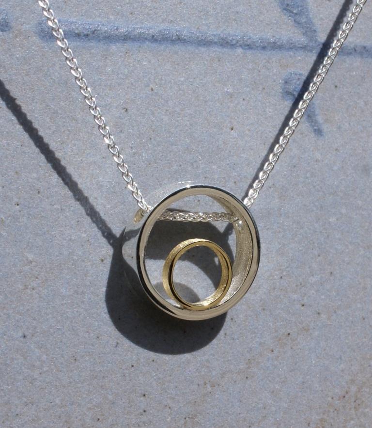 Circle & Dot Pendant