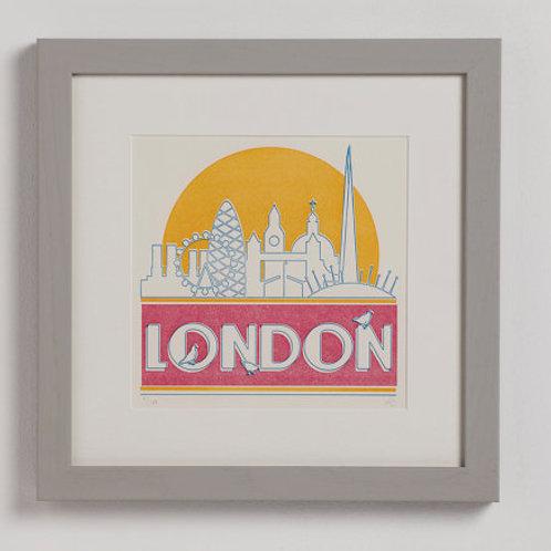 London (in the sun) Letterpress Print