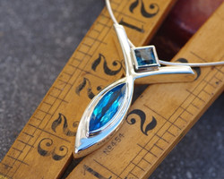 2 Blue Topaz Pendant