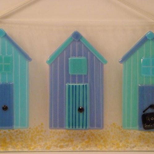 3 Beach Huts - Blues
