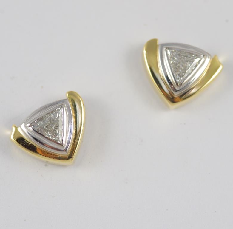 Trilliant Earrings with Diamonds