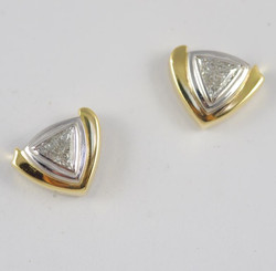Trilliant Earrings with Diamonds