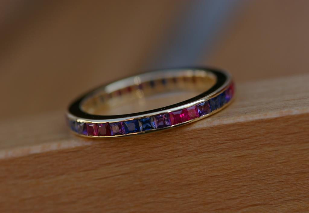 18ct Gold Rainbow ET Ring