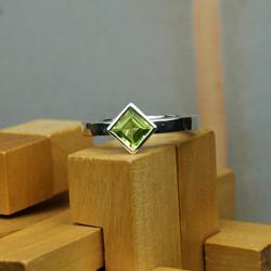 Silver Square Darleen ring