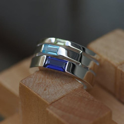 Triple Tapered Jeanette Ring