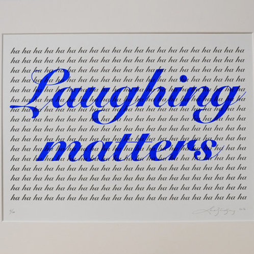 LAUGHING MATTERS (BLUE)