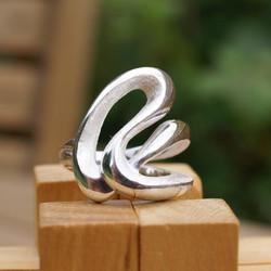 Silver Rope ring -1 Loop
