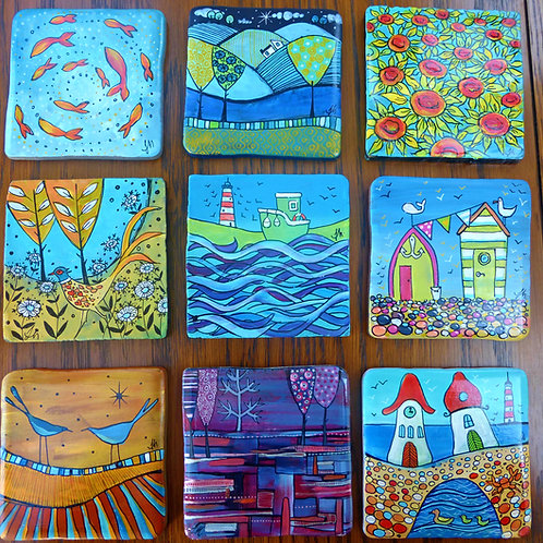 Tile Painting Workshop with Judit Matthews