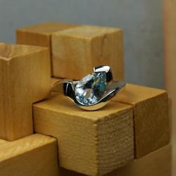 Helen ring with Aquamarine