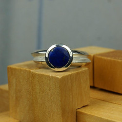 Double ring with Lapis Lazuli