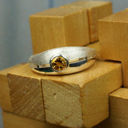 Couple ring with Golden Citrine
