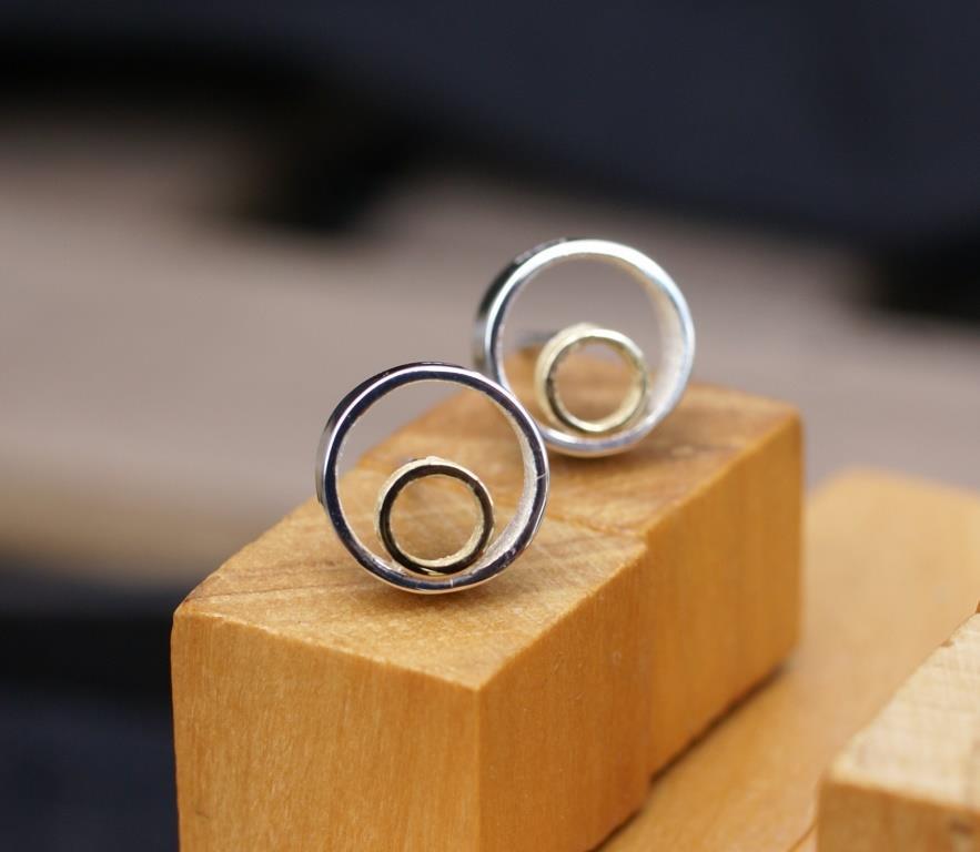 Circle & Dot Earrings