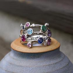 14 Stone Platinum Ring