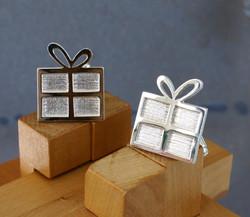 Silver Present Cufflinks