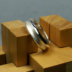 Silver Huge Double ring