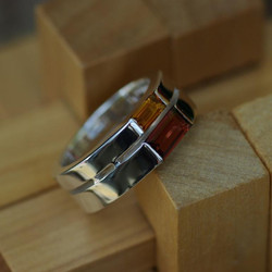Double Tapered Jeanette Ring